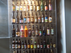 Huge shelf filled with craft beers